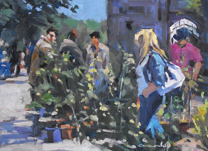 Christian Arnould - Soleil un jour de pluie (huile sur carton 33 x 24)