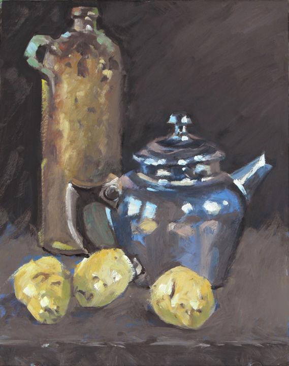 Christian Arnould - Pommes de terre (huile sur carton 35 x 27)