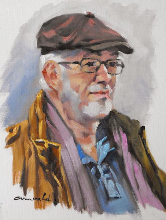 Christian Arnould - René (huile sur papier 35 x 27)