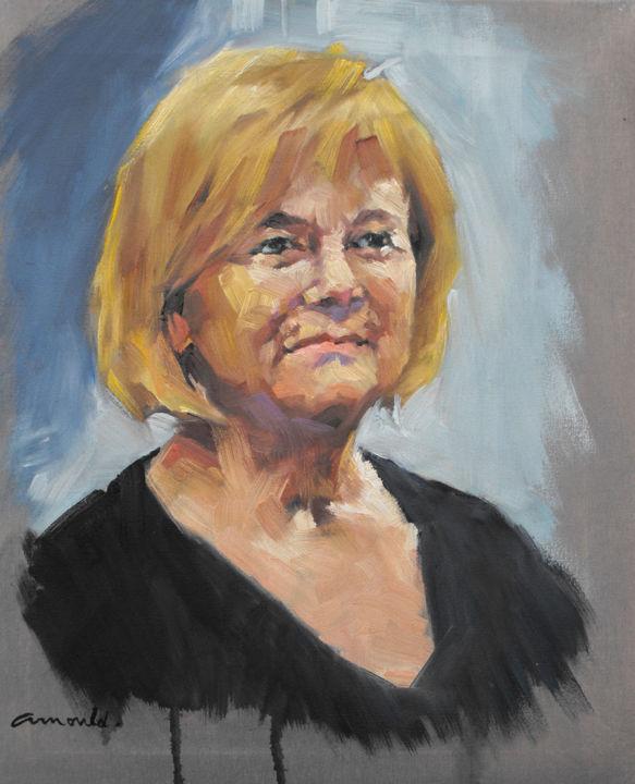 Christian Arnould - Lucette (huile sur toile 46 x 38)