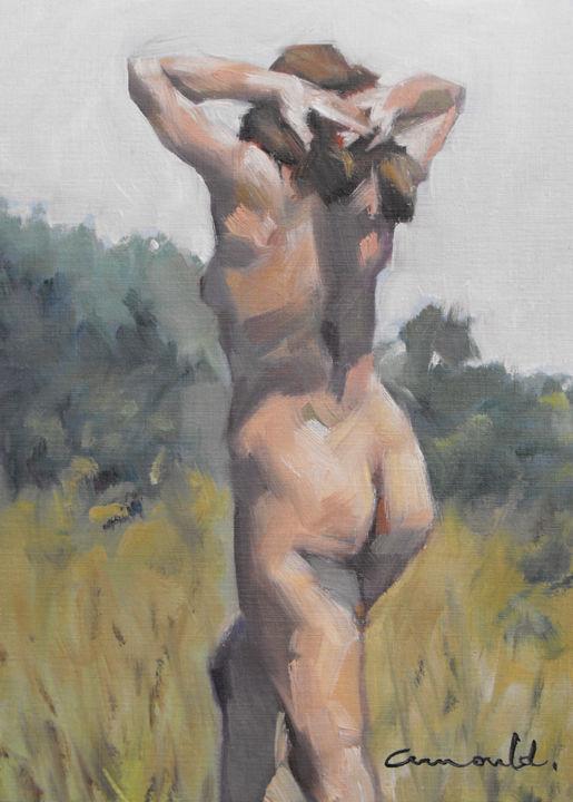 Christian Arnould - Nature (huile sur papier 33 x 24)