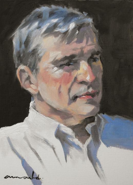 Christian Arnould - Jean Michel (huile sur papier 33 x 24)