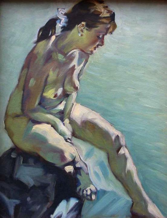 Christian Arnould - Nu au bord de l'eau