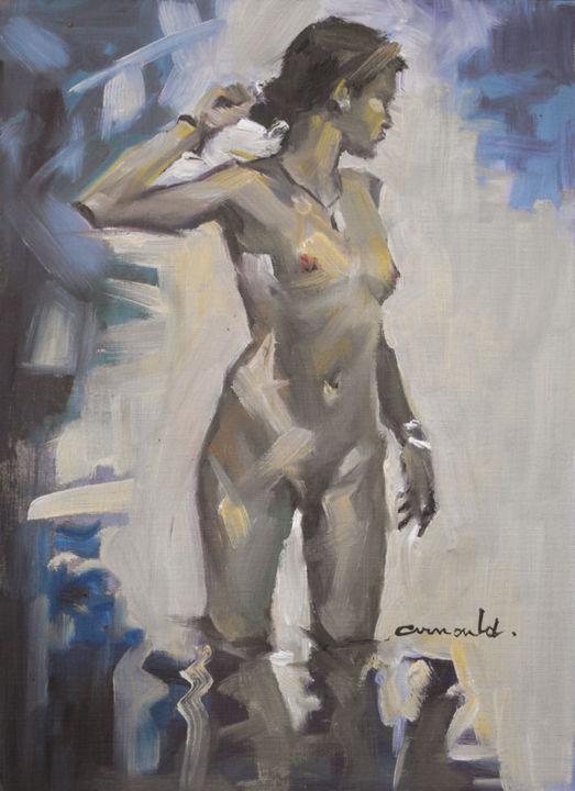 Christian Arnould - Ce matin (huile sur papier toilé 33 x 24)