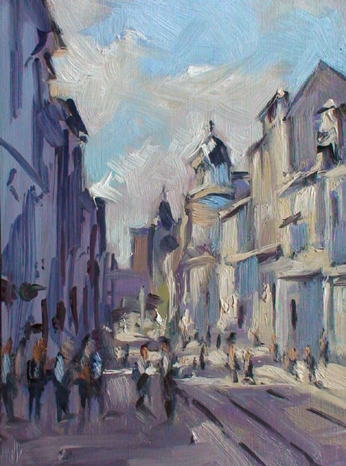 Christian Arnould - Pochade rue Saint Jean