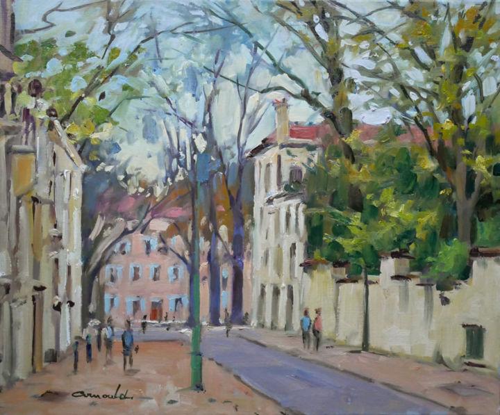 Christian Arnould - Rue René d'Anjou à Nancy (huile sur toile 46 x 38)