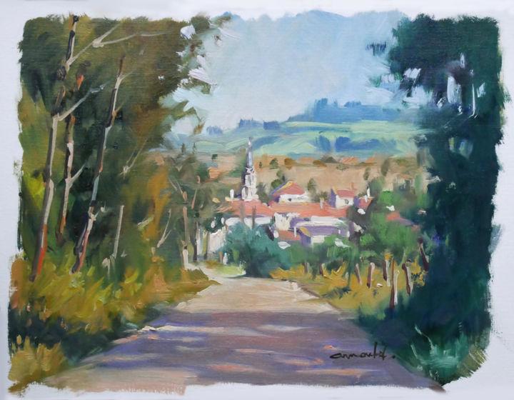 Christian Arnould - Village sous la colline de Sion