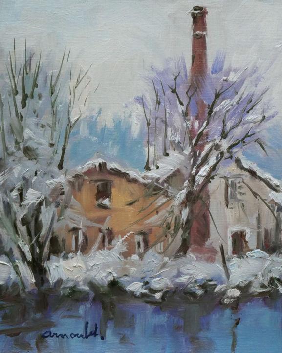 Christian Arnould - Exercice à l'atelier 2 (huile sur papier 27 x 22)
