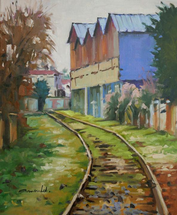 Christian Arnould - Friches à Alstom Nancy (huile sur toile 55 x 46)