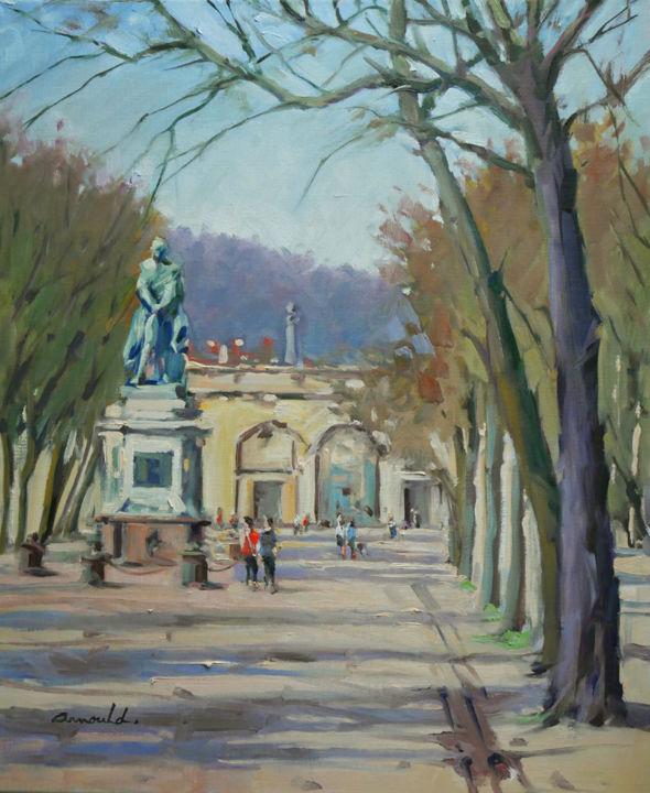 Christian Arnould - Place Carnot à Nancy (huile sur toile 65 x 54)